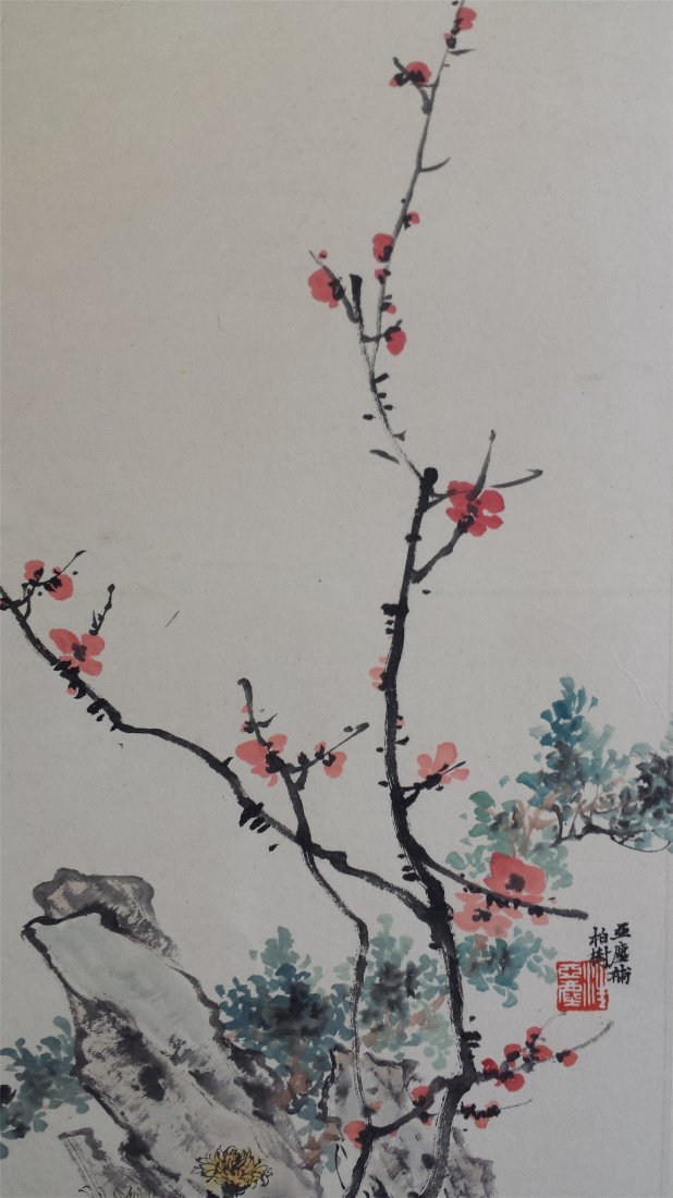 CHINESE SCROLL PAINTING OF BAMBOO AND ROCK - 2