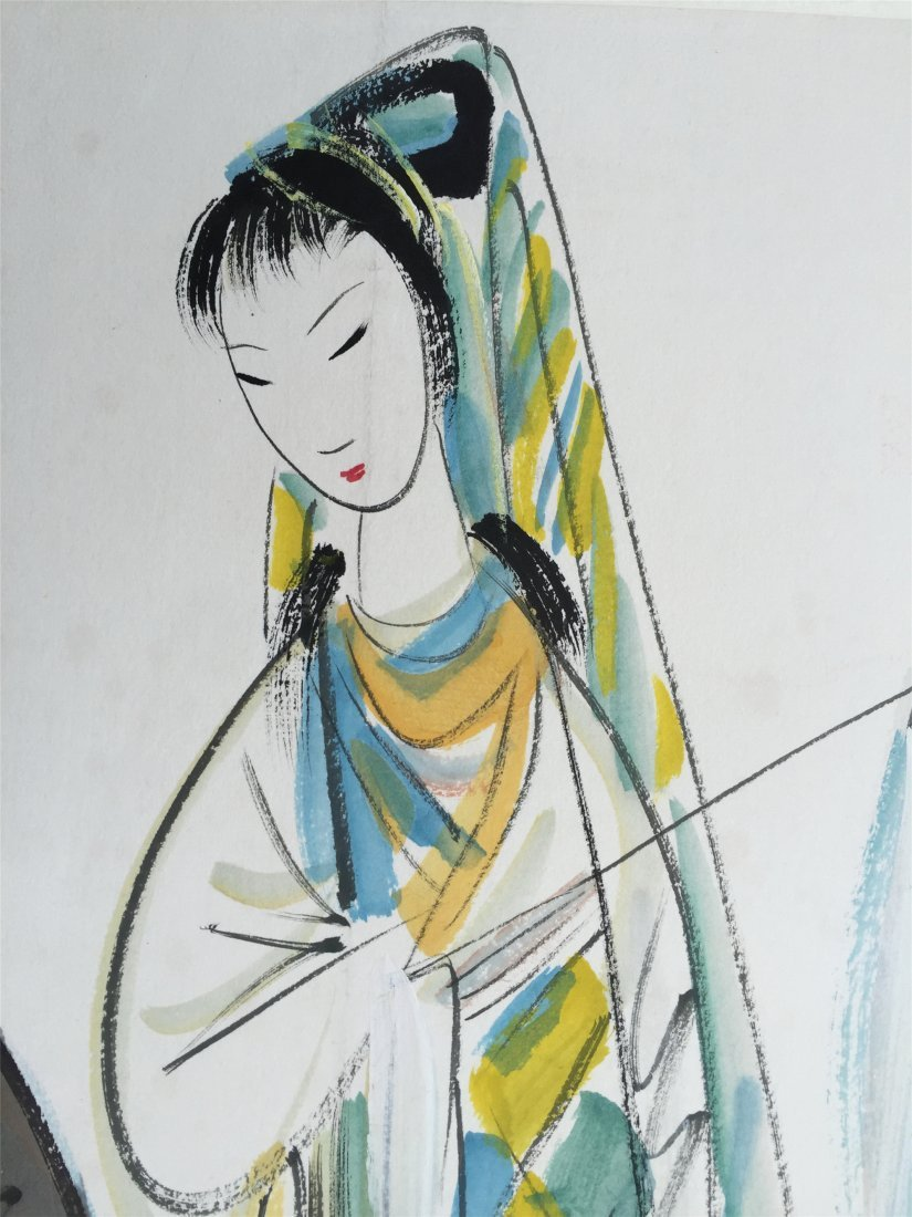 CHINESE SCROLL PAINTING OF TWO FIGURES - 4