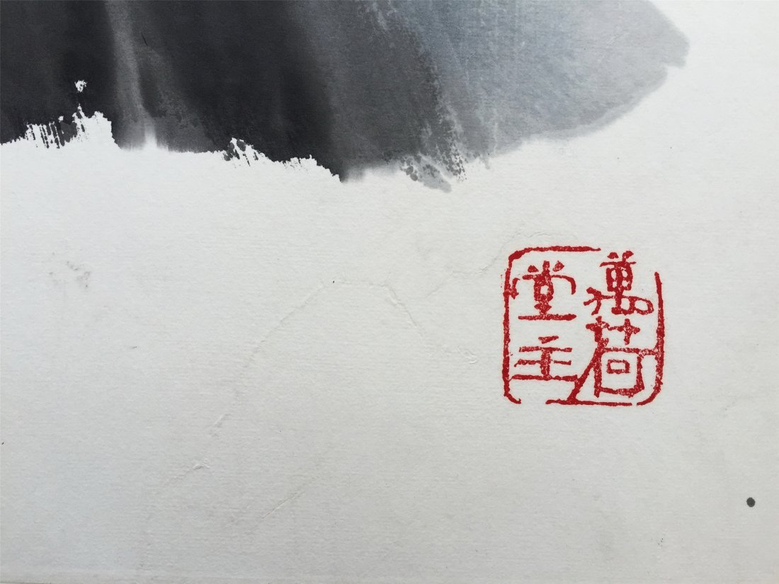 CHINESE SCROLL PAINTING OF RIVER VIEWS - 4