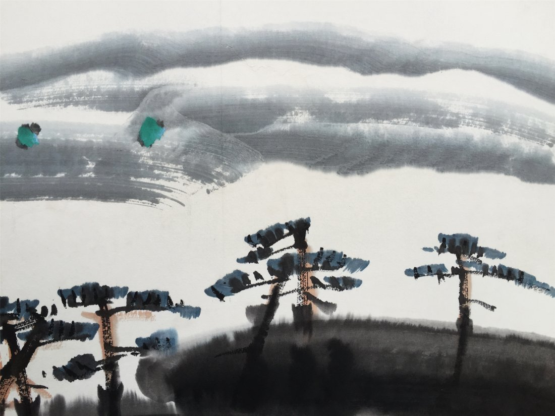 CHINESE SCROLL PAINTING OF RIVER VIEWS - 5