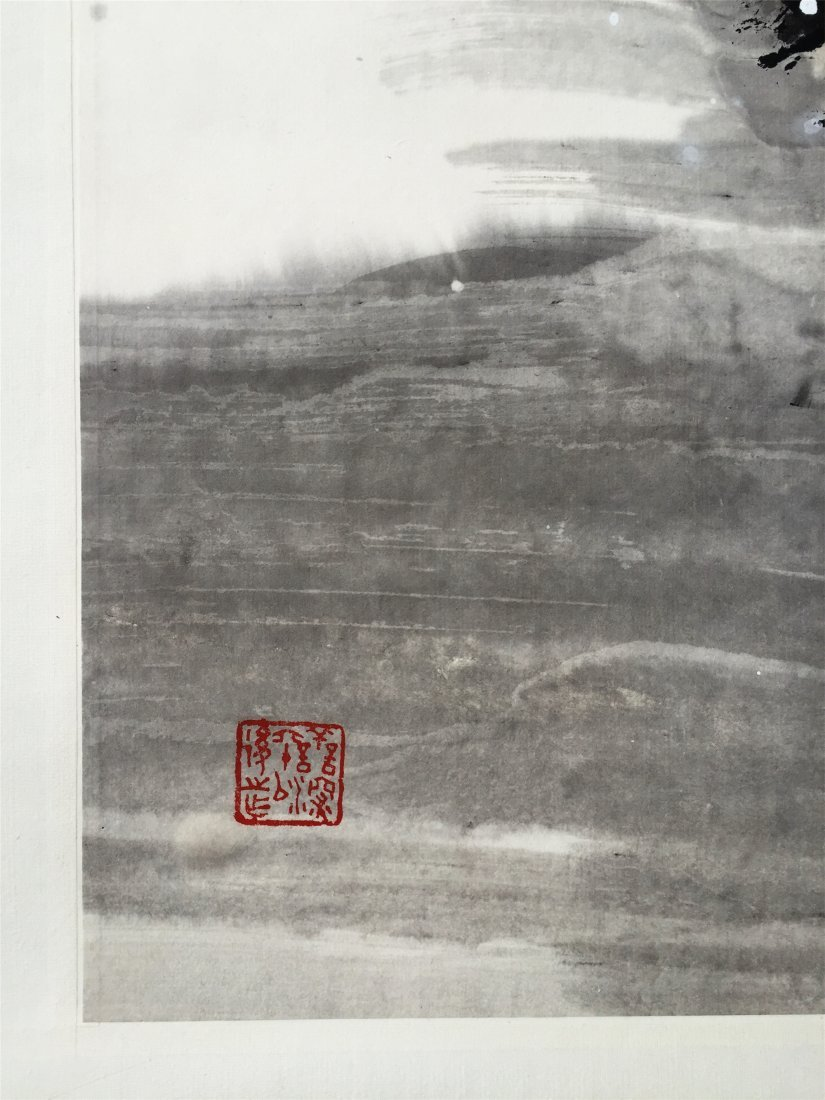 CHINESE SCROLL PAINTING OF EAGLE ON PINE - 5