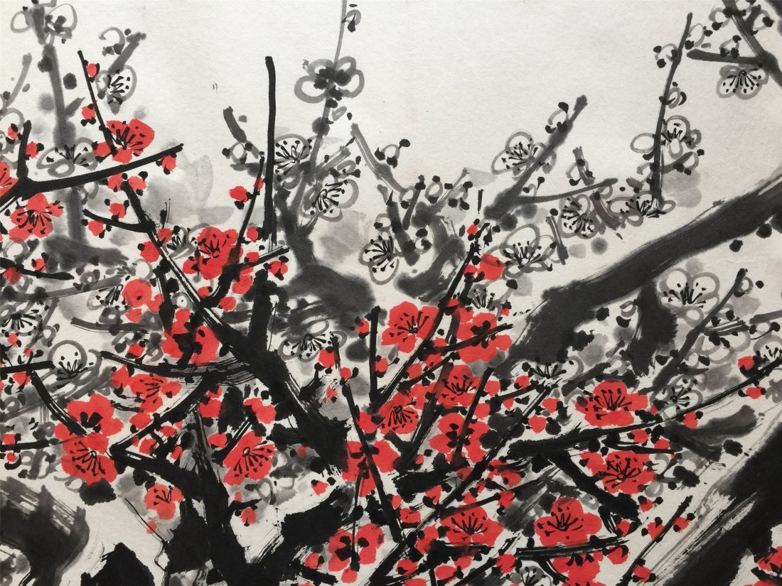 CHINESE SCROLL PAINTING OF PLUM - 4