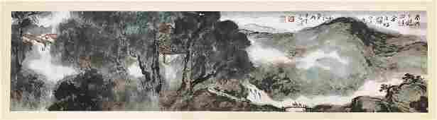 CHINESE SCROLL PAINTING OFMOUNTAIN VIEWS