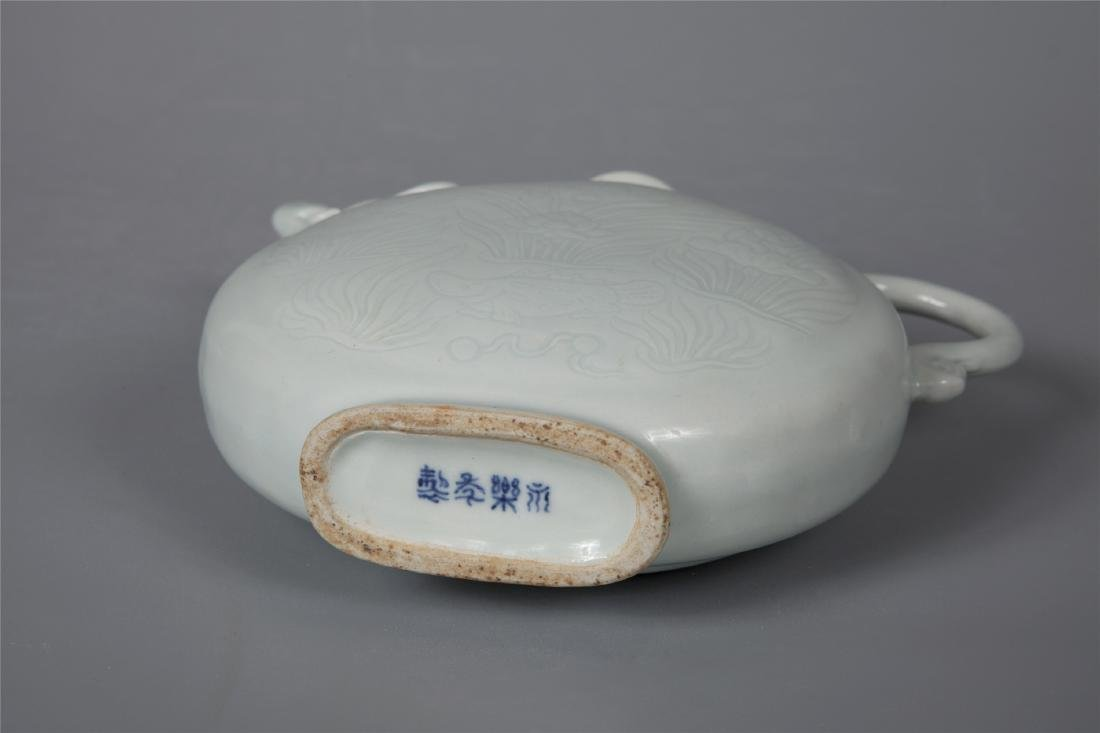 CHINESE PORCELAIN WHITE GLAZE DRAGON KETTLE - 3