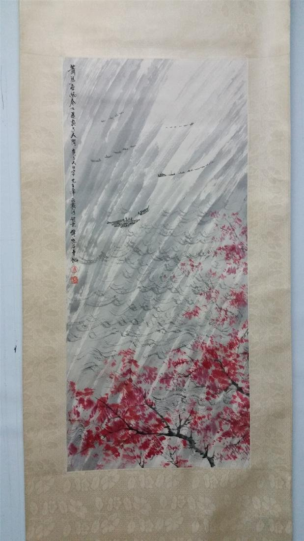 CHINESE SCROLL PAINTING OF LAKEVIEW