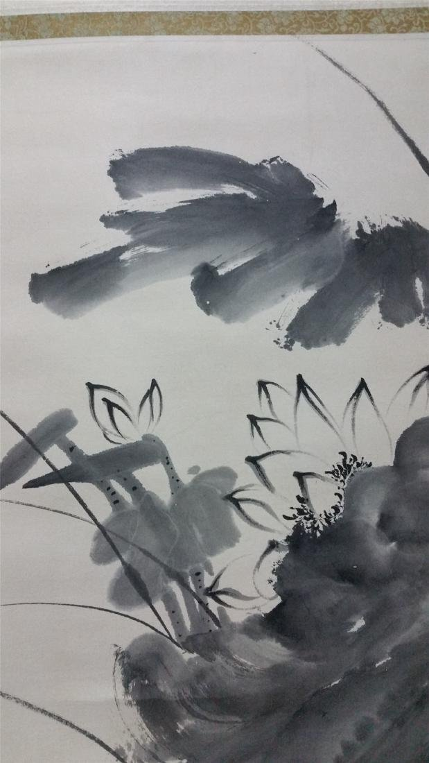 CHINESE SCROLL PAINTING OF LOTUS AND DUCK - 2