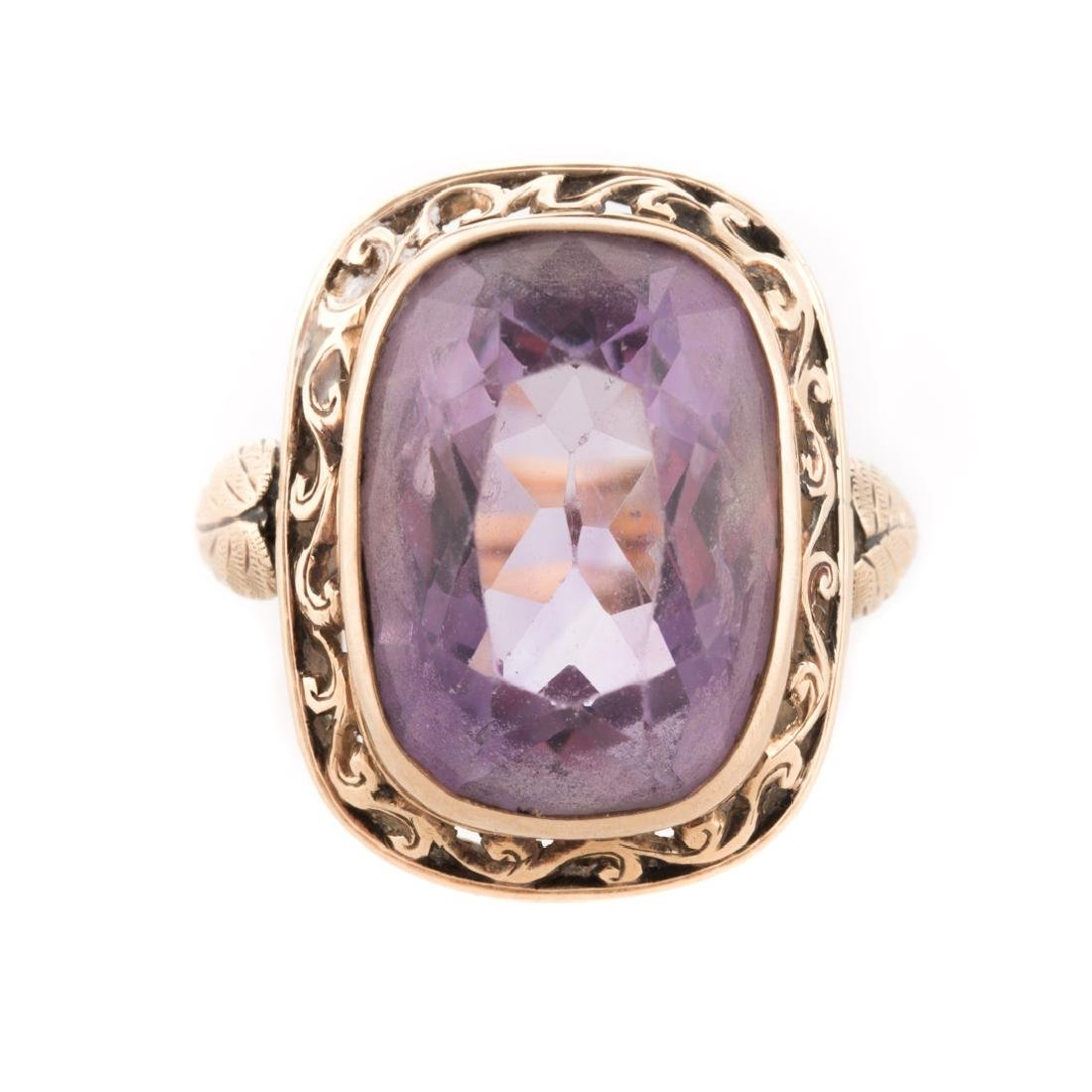 A Victorian Amethyst Ring in Gold