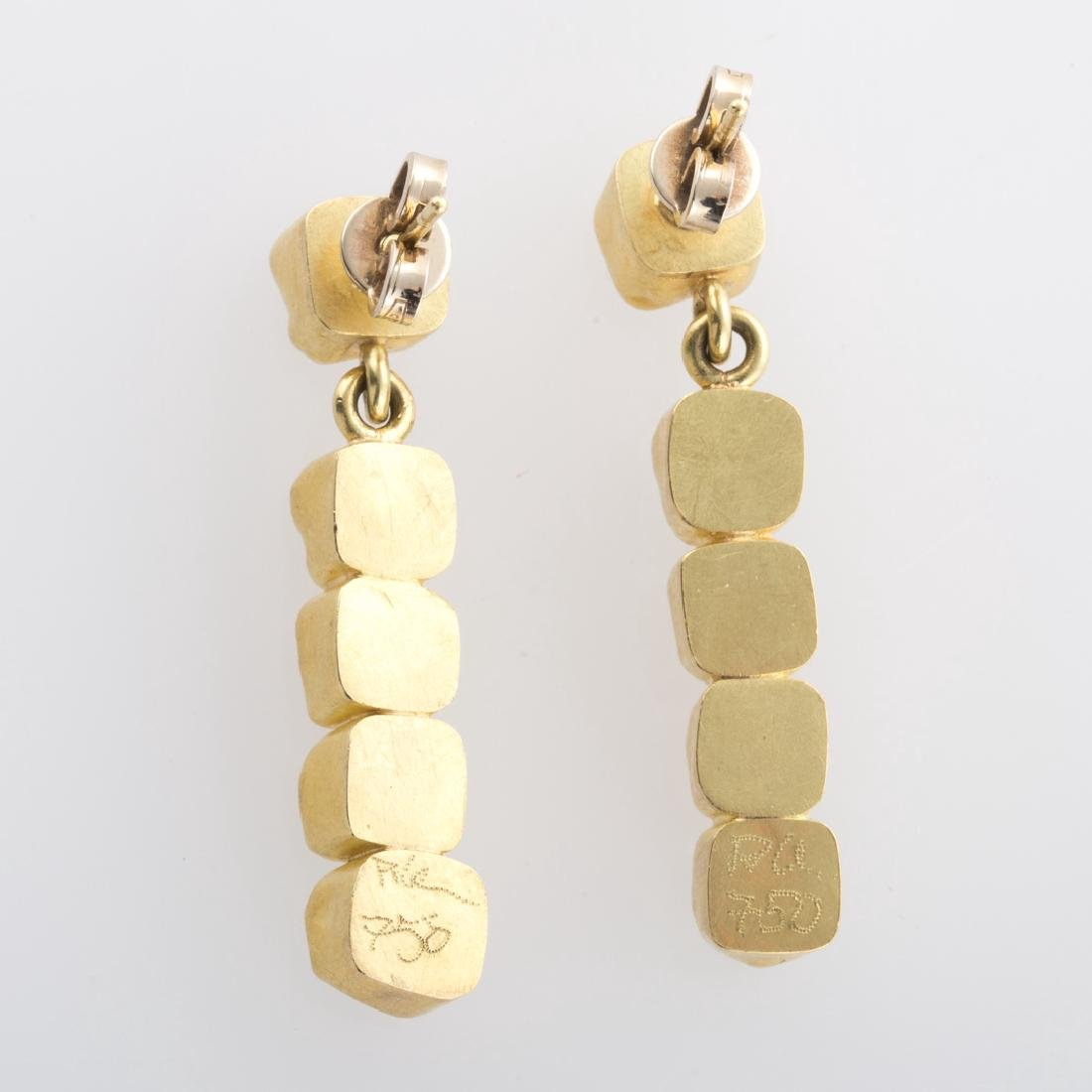 A Pair of Raw, Natural Diamond Earrings in 22K - 3