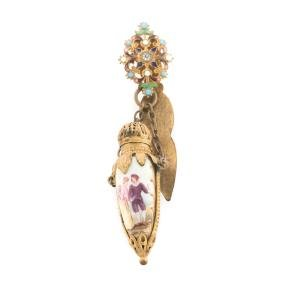 A Vintage Perfume Bottle Brooch