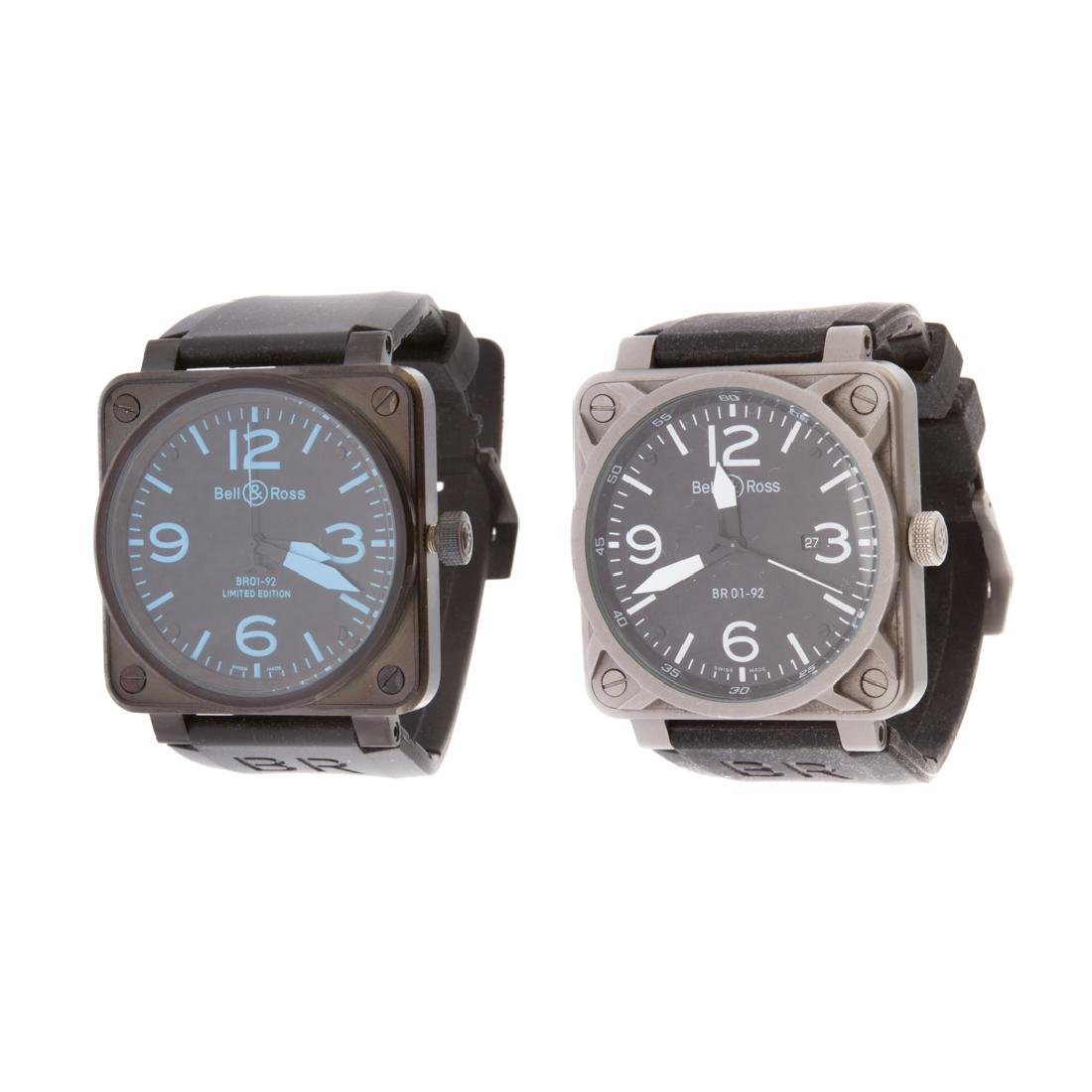 Two Gent's Bell & Ross Inspired Watches