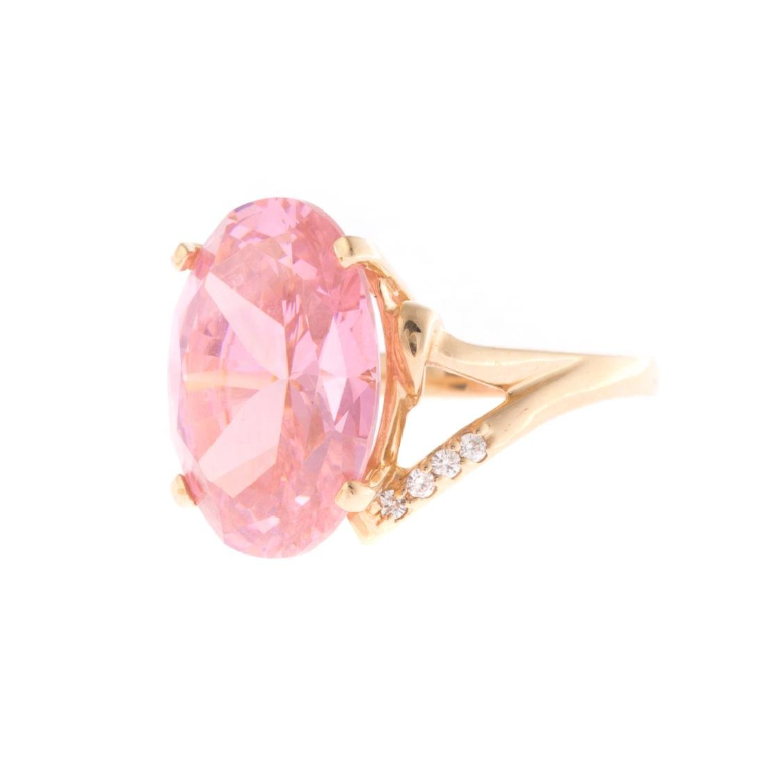 Two Lady's Gemstone Rings in 14K Gold - 2