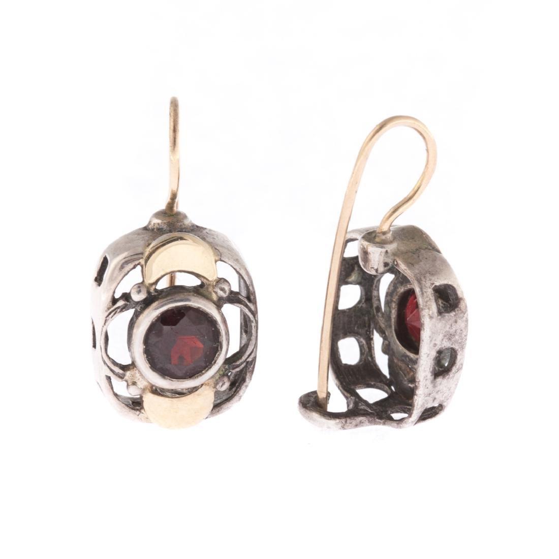A Contemporary Amethyst Ring & Garnet Earrings - 2