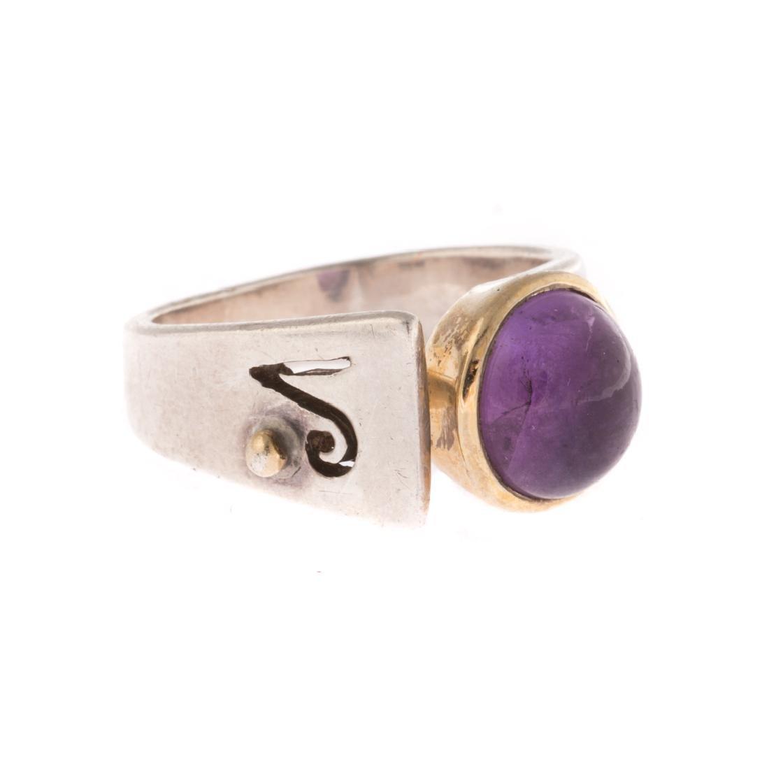 A Contemporary Amethyst Ring & Garnet Earrings - 3