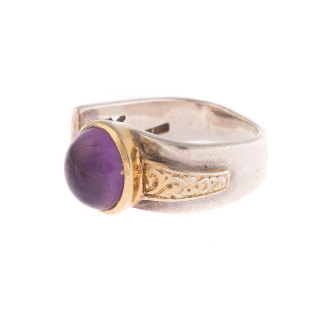 A Contemporary Amethyst Ring & Garnet Earrings - 4