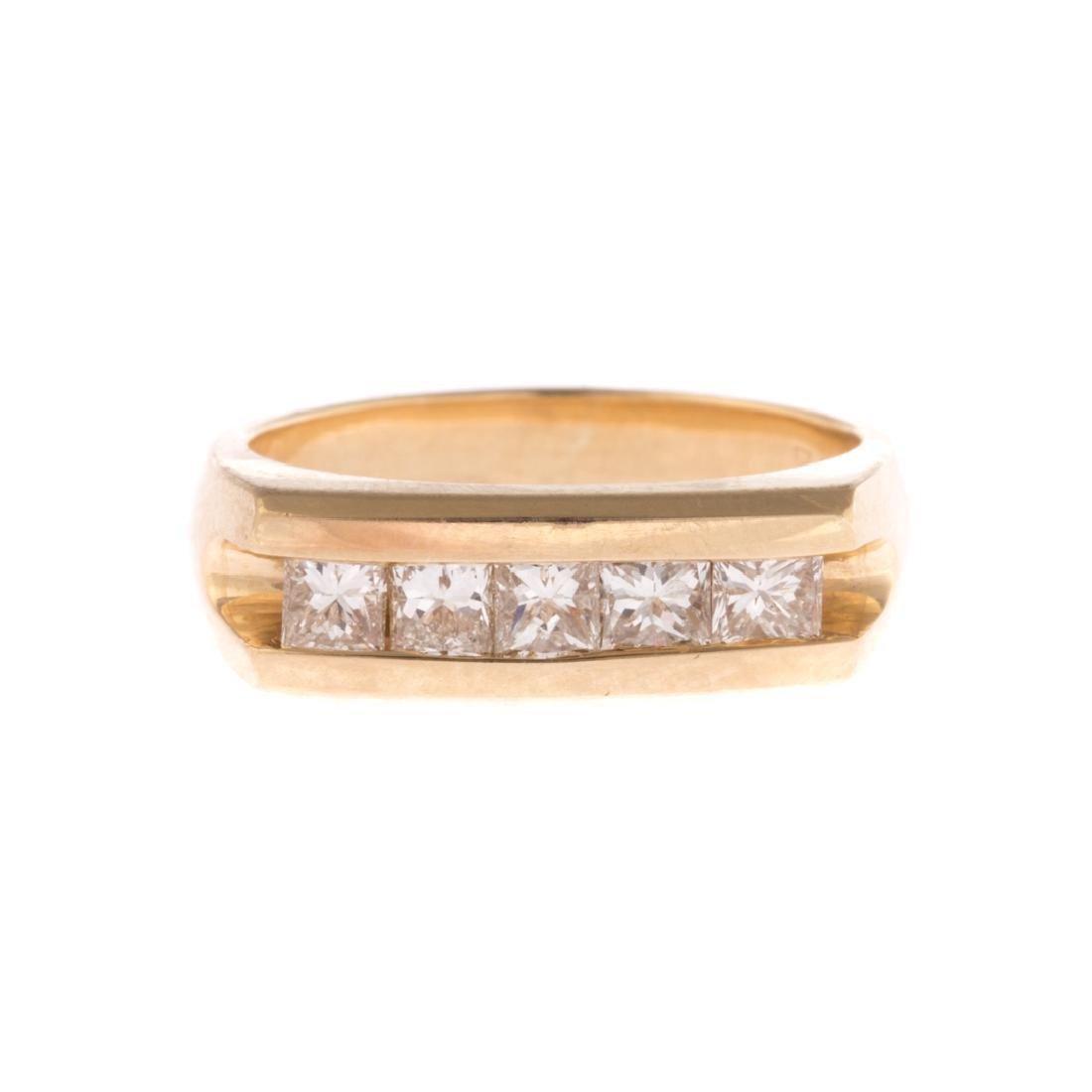 A Gentleman's Contemporary Diamond Ring