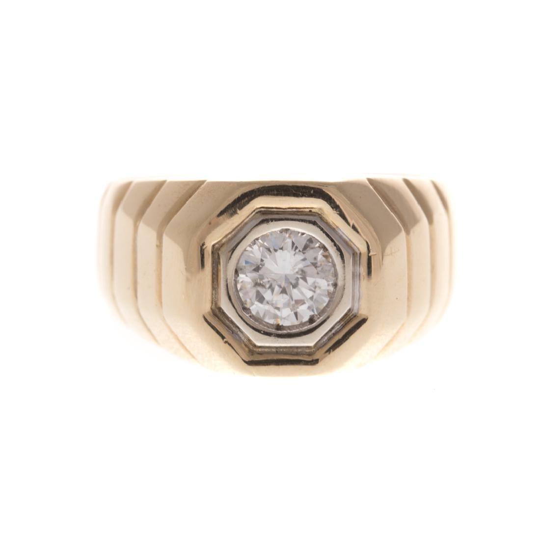 A Gentleman's Diamond Ring in 14K Gold
