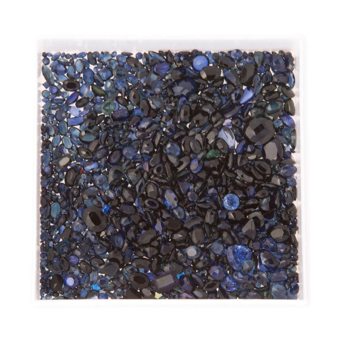 A Box of Loose Sapphires Weighing 362 Carats