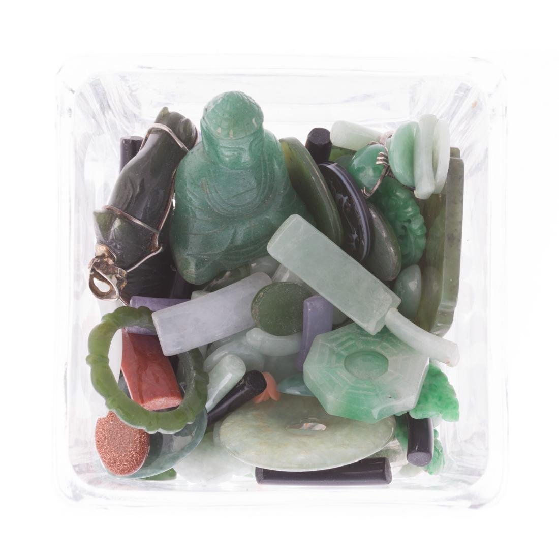 A Bag of Loose Jade and Nephrite