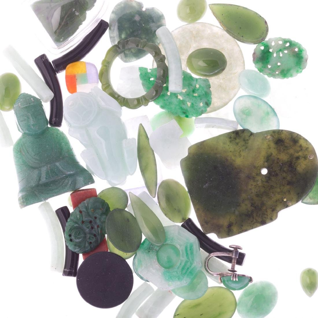 A Bag of Loose Jade and Nephrite - 2