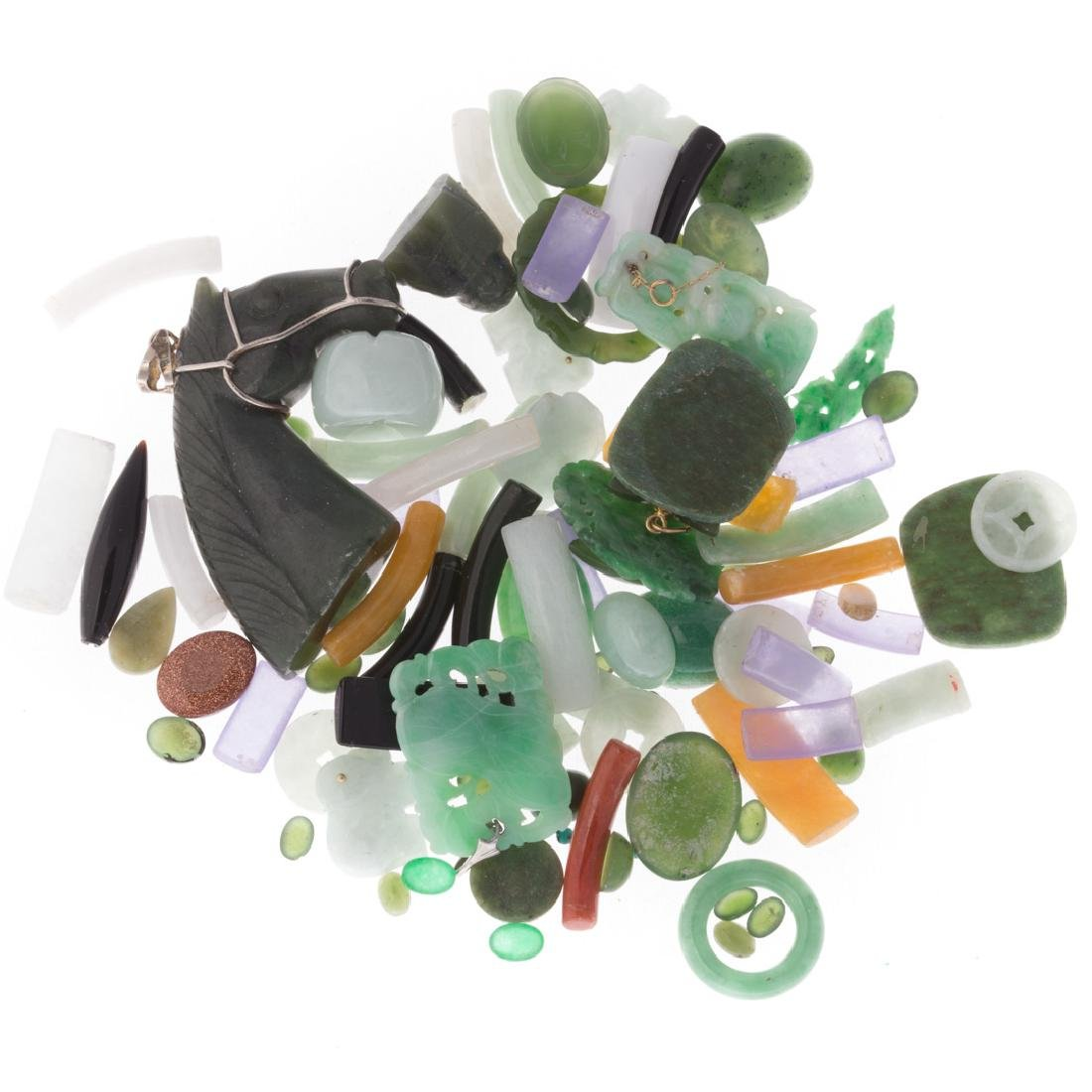 A Bag of Loose Jade and Nephrite - 3