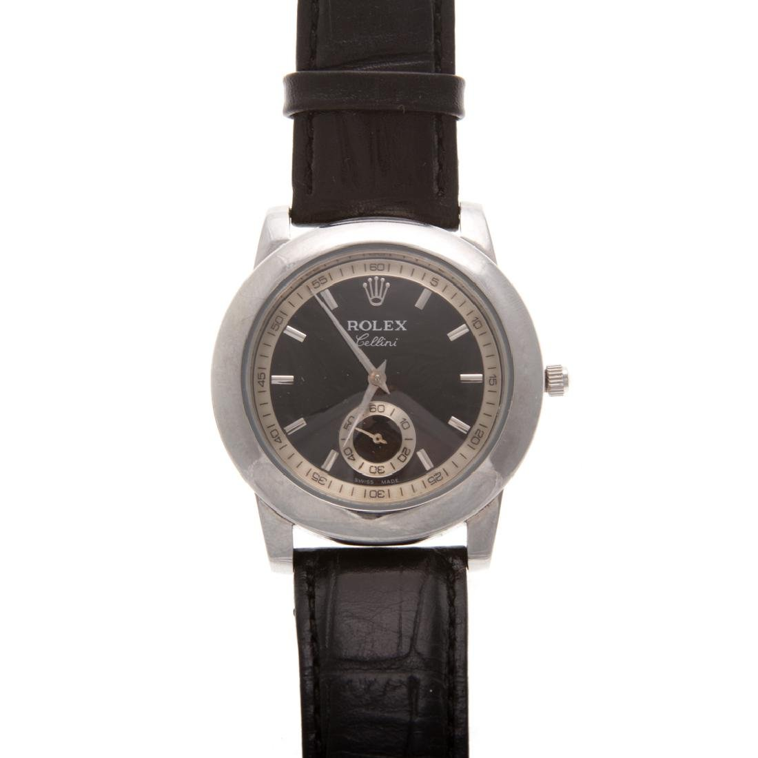 A Rolex Inspired Cellini with Black Strap