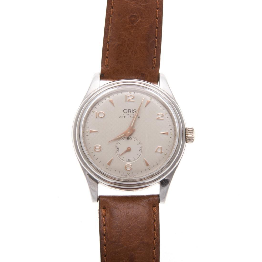 A Gent's Stainless Oris Wrist Watch