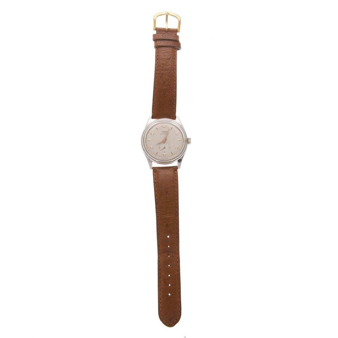 A Gent's Stainless Oris Wrist Watch - 2