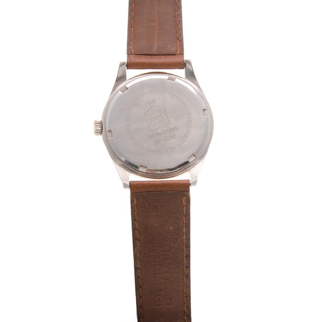 A Gent's Stainless Oris Wrist Watch - 3
