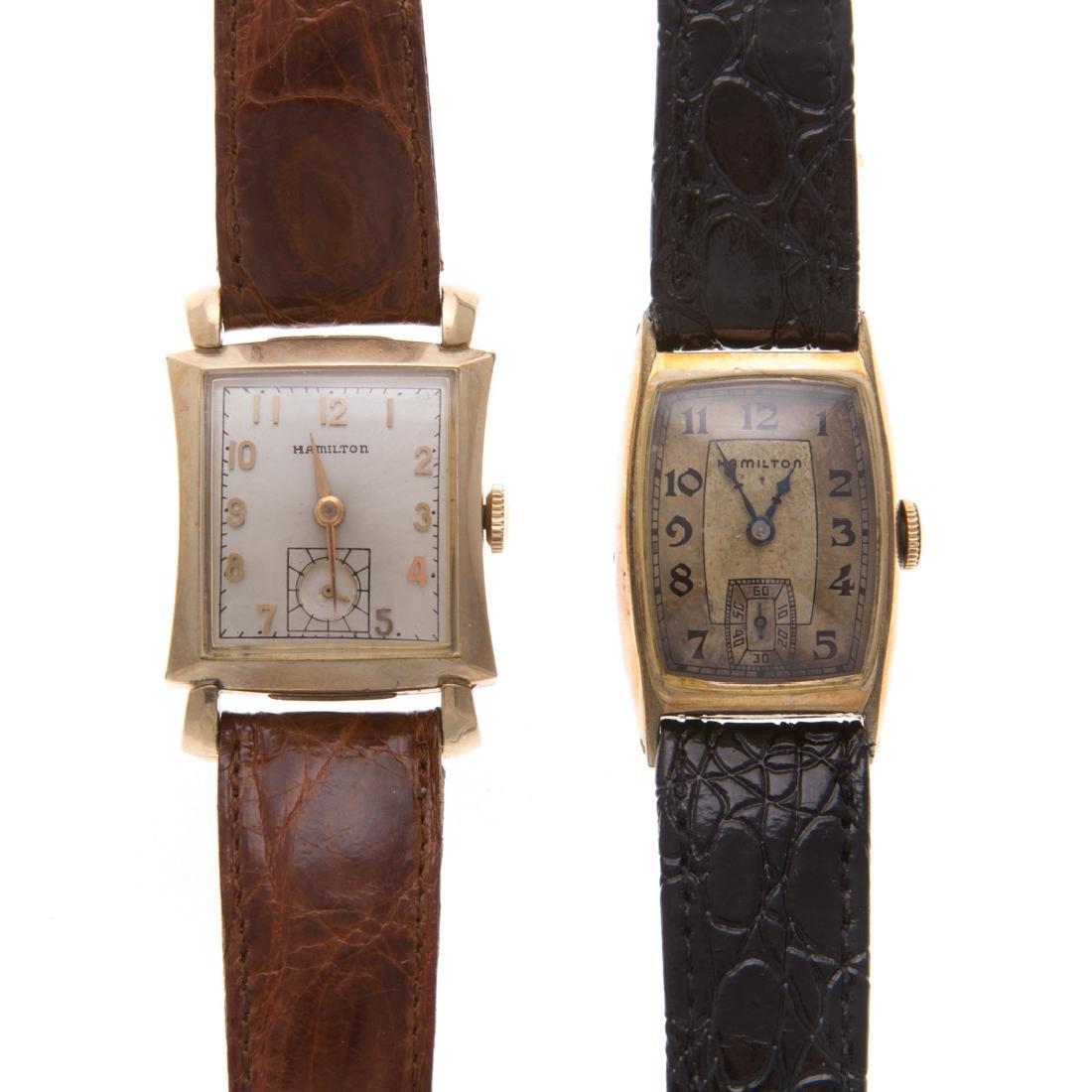 Two Vintage Gent's Hamilton Wrist Watches