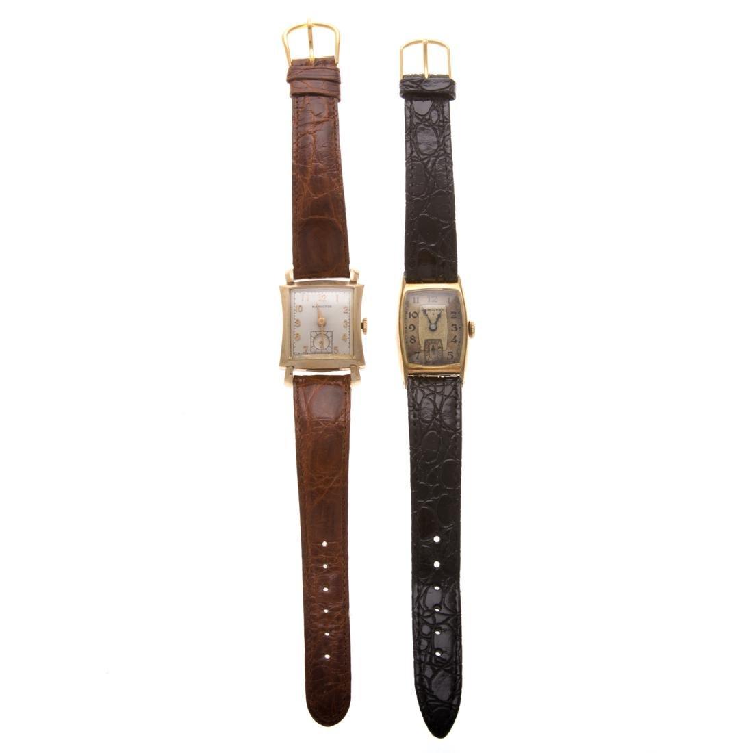 Two Vintage Gent's Hamilton Wrist Watches - 2