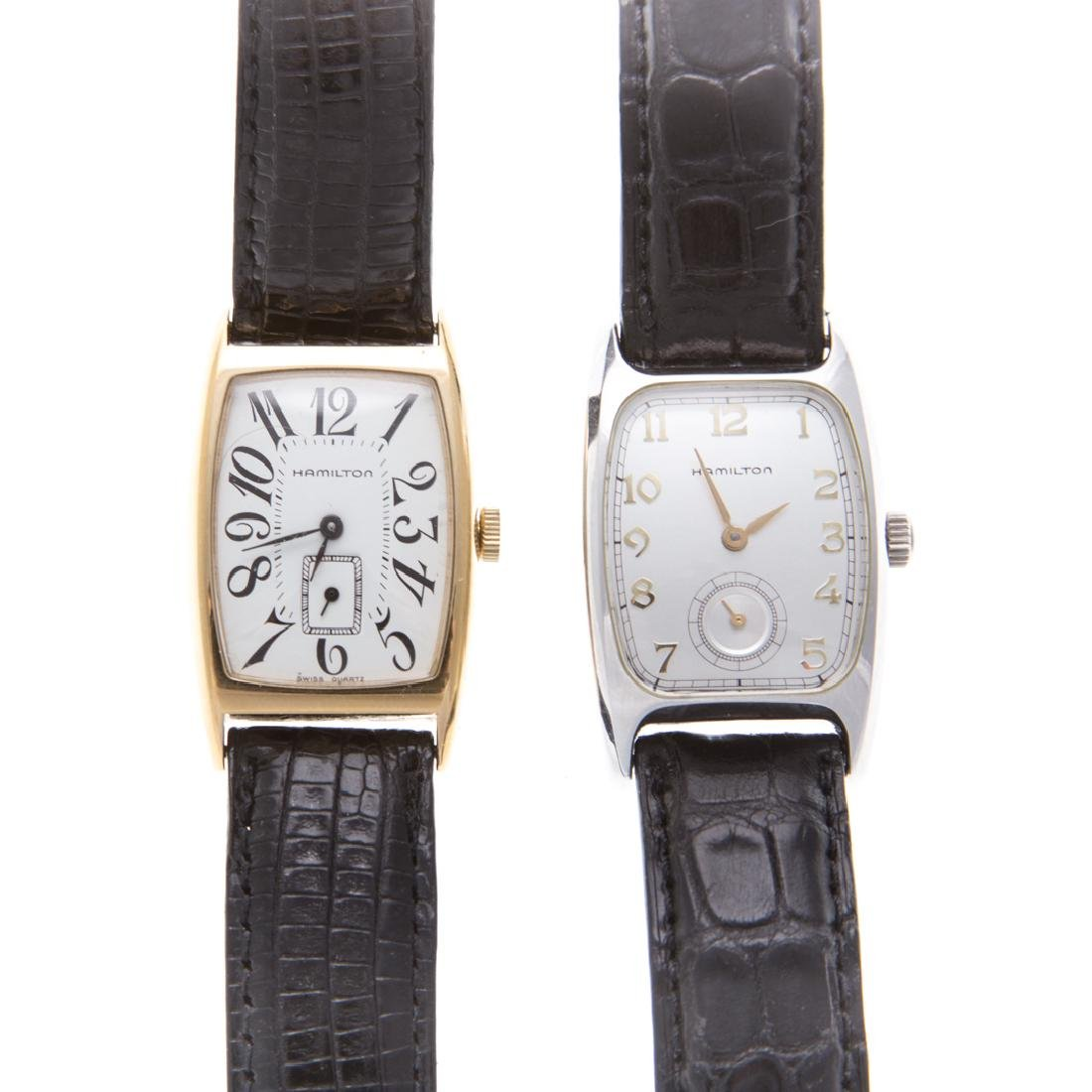 A Pair of Gent's Hamilton Wrist Watches