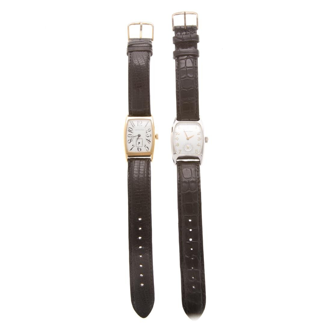 A Pair of Gent's Hamilton Wrist Watches - 2