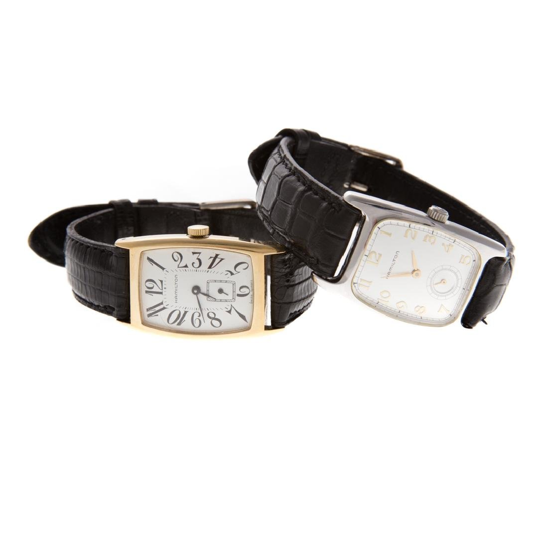 A Pair of Gent's Hamilton Wrist Watches - 4