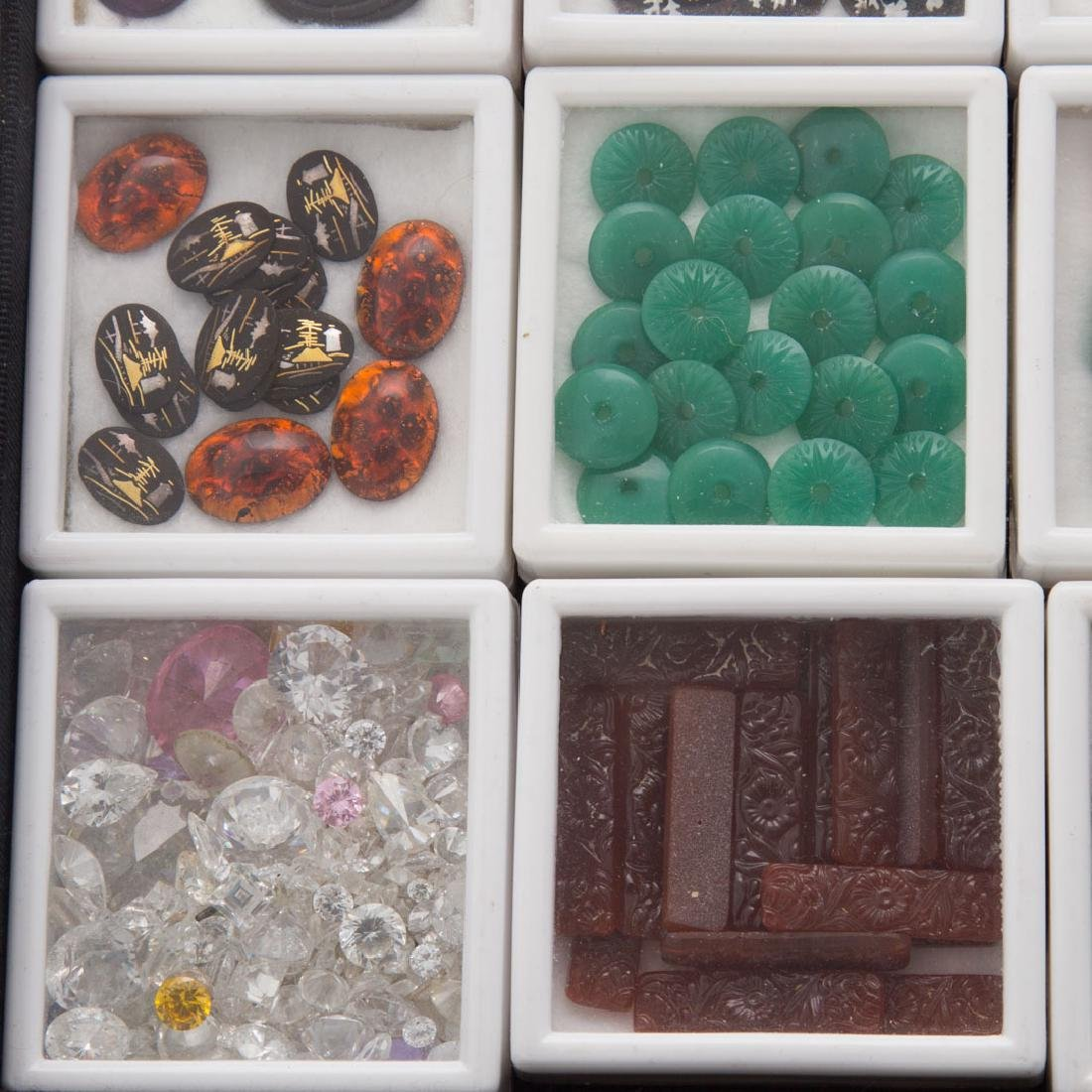 A Collection of Natural Carved Gem Stones - 2