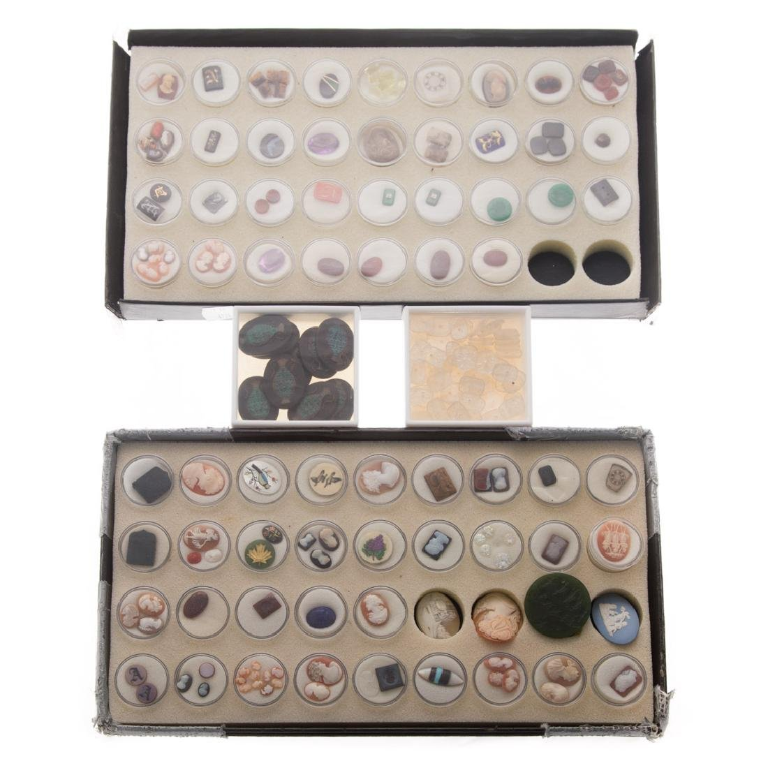 A Collection of Natural Carved Gem Stones