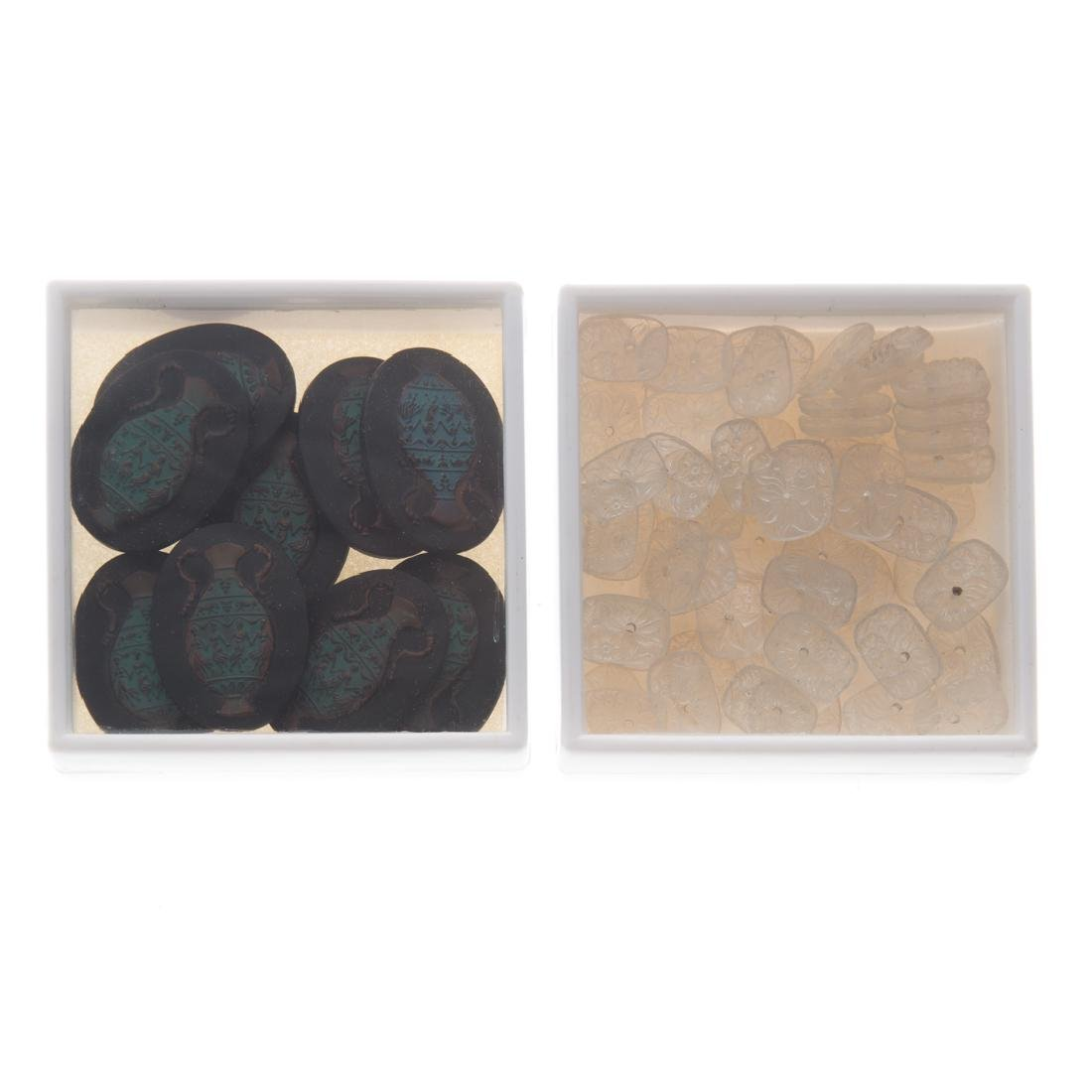 A Collection of Natural Carved Gem Stones - 3
