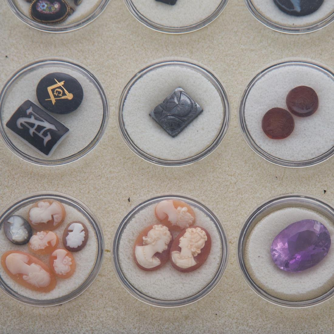 A Collection of Natural Carved Gem Stones - 5