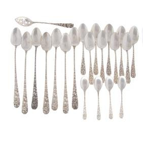 Various sterling silver spoons (21)