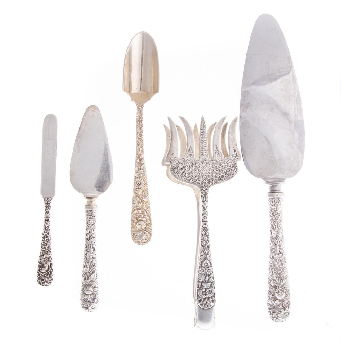 Kirk sterling silver serving utensils (5)