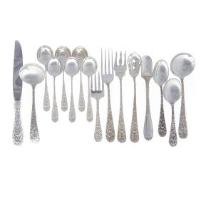 """Stieff """"Rose"""" miscellaneous sterling flatware"""