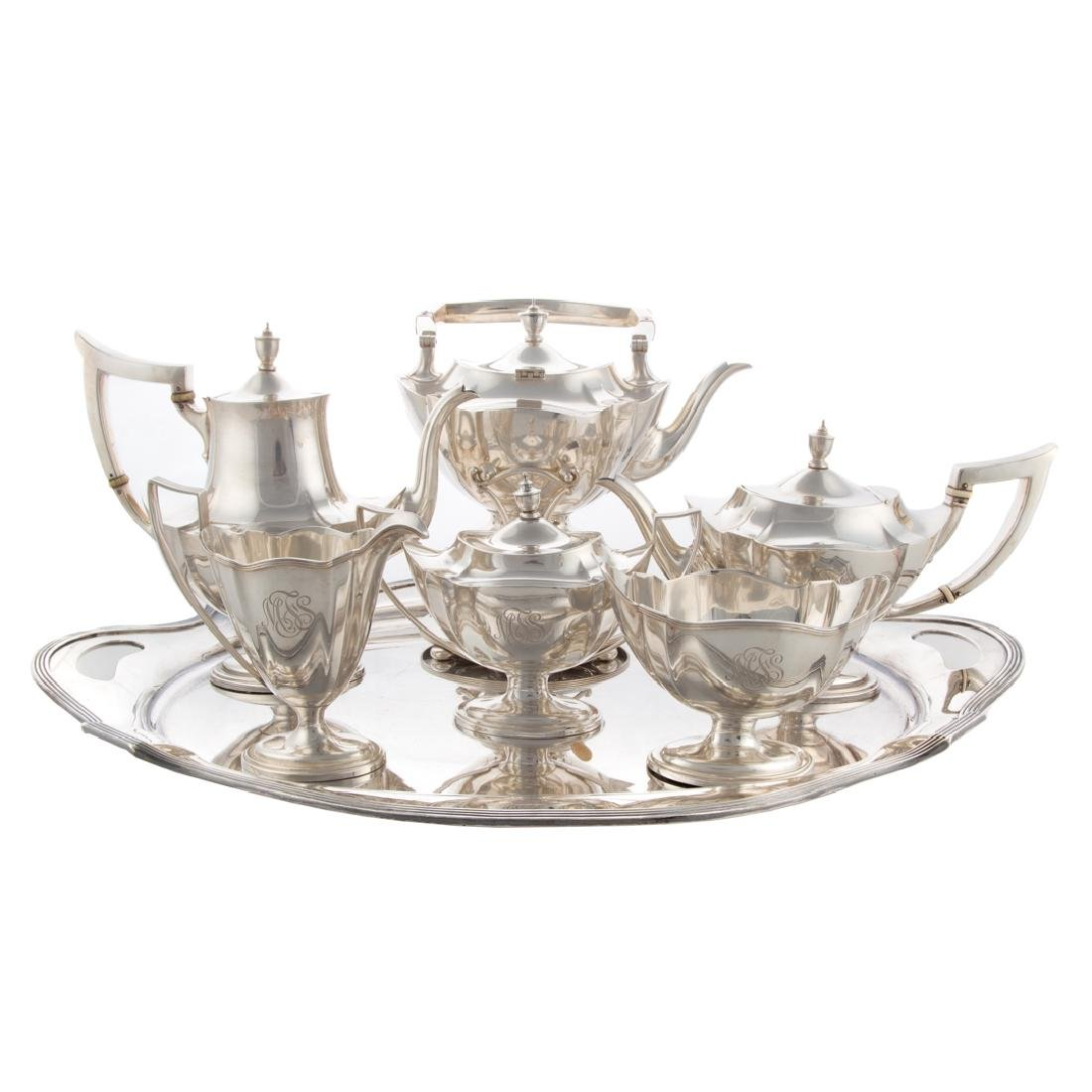 "Gorham ""Plymouth"" sterling 6-pc coffee/tea service"