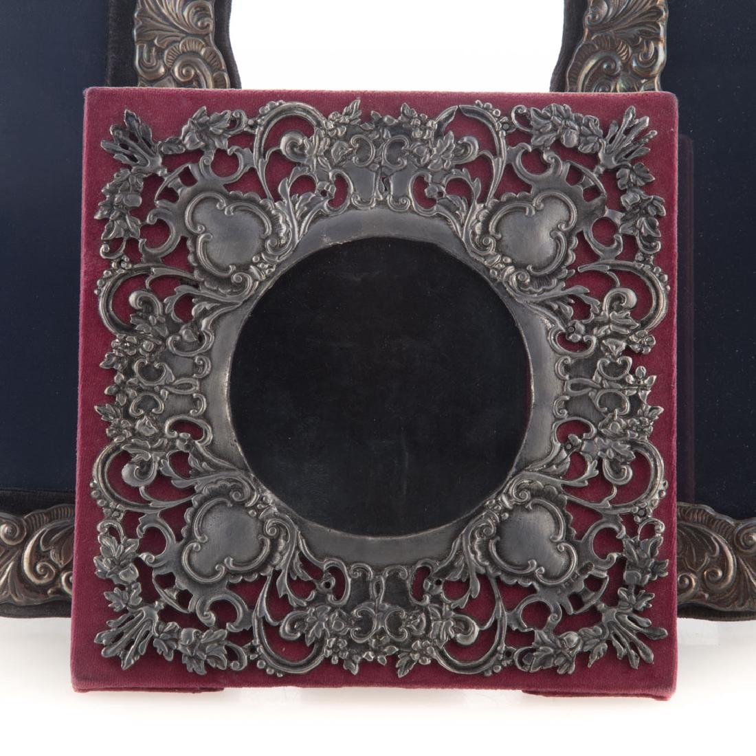 Pair of repousse sterling 5 x 7 picture frames - 2