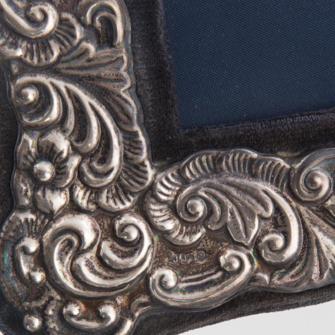 Pair of repousse sterling 5 x 7 picture frames - 5