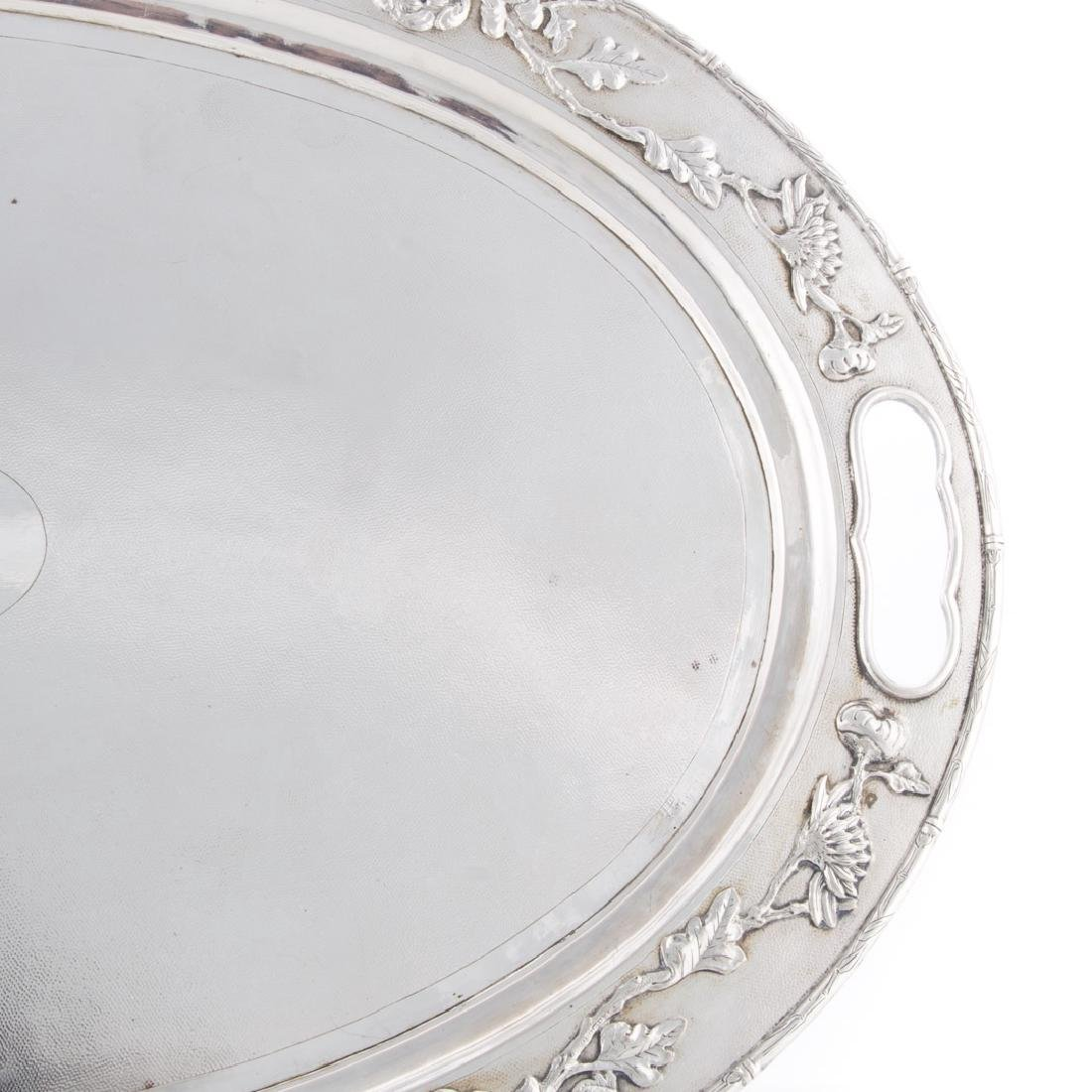Chinese silver oval platter - 2