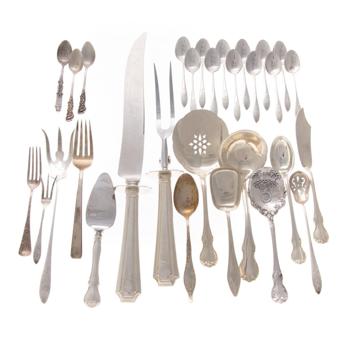 Collection of Gorham and Towle sterling flatware