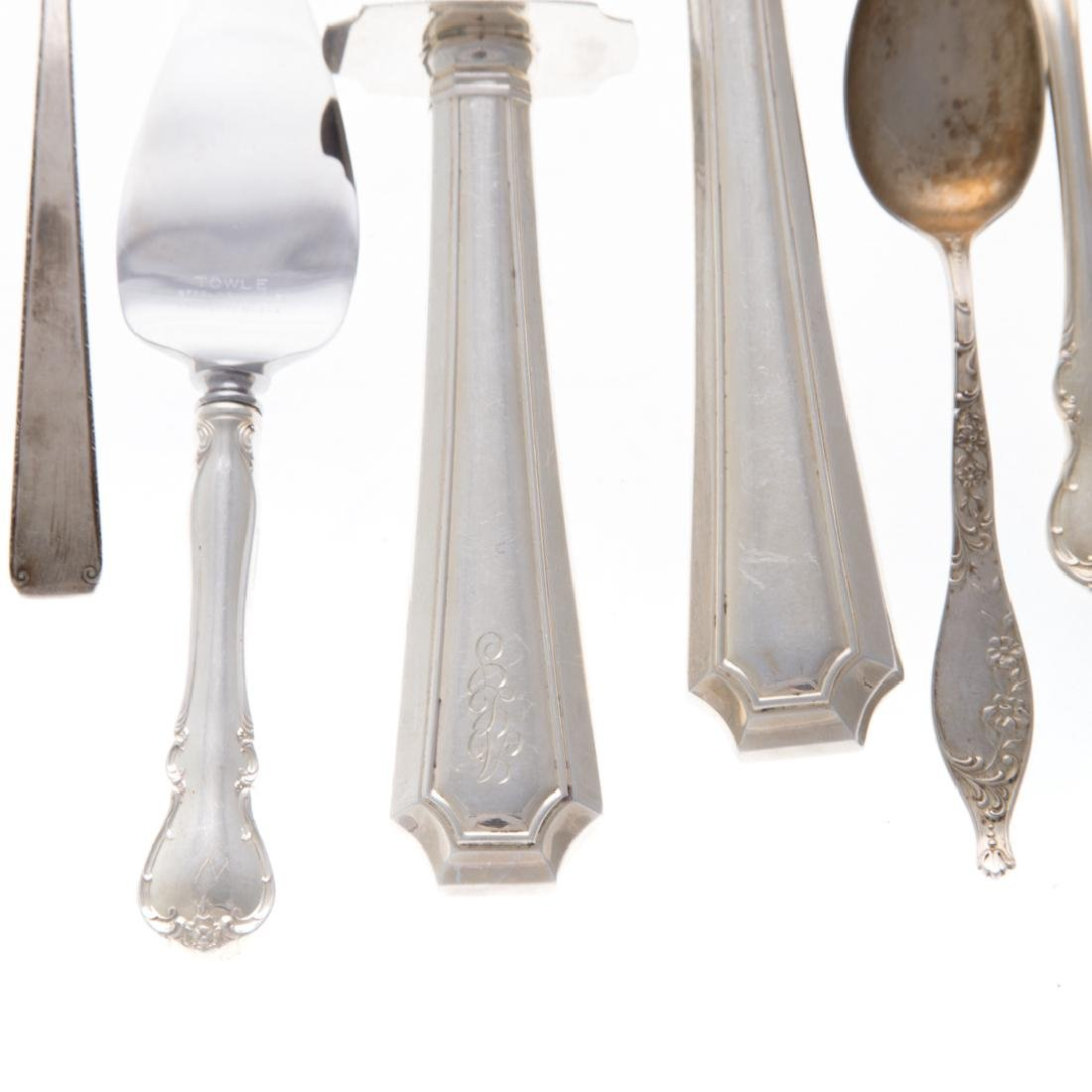Collection of Gorham and Towle sterling flatware - 2