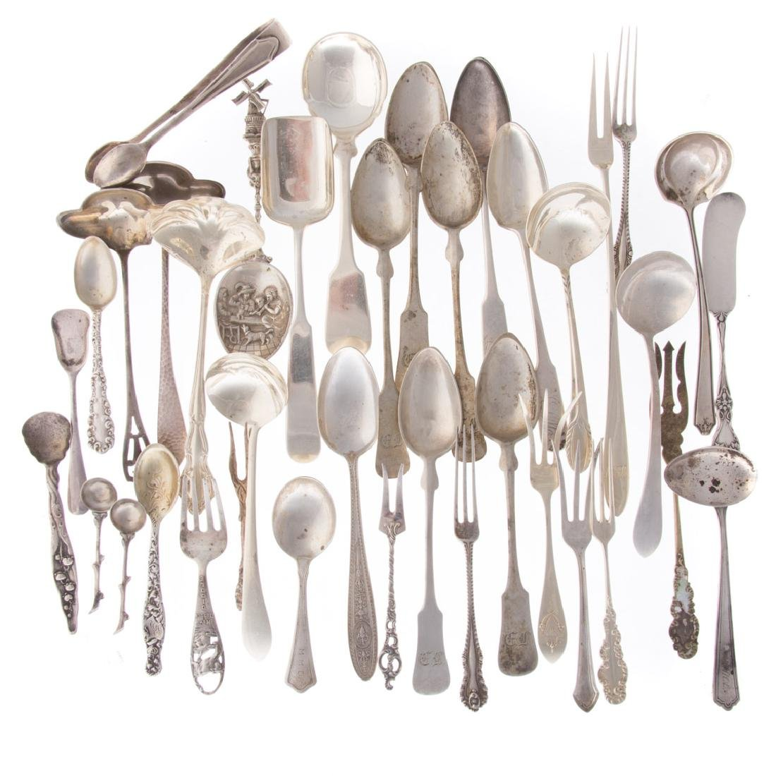 Collection American & Continental silver flatware