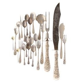 A collection of Stieff sterling silver flatware