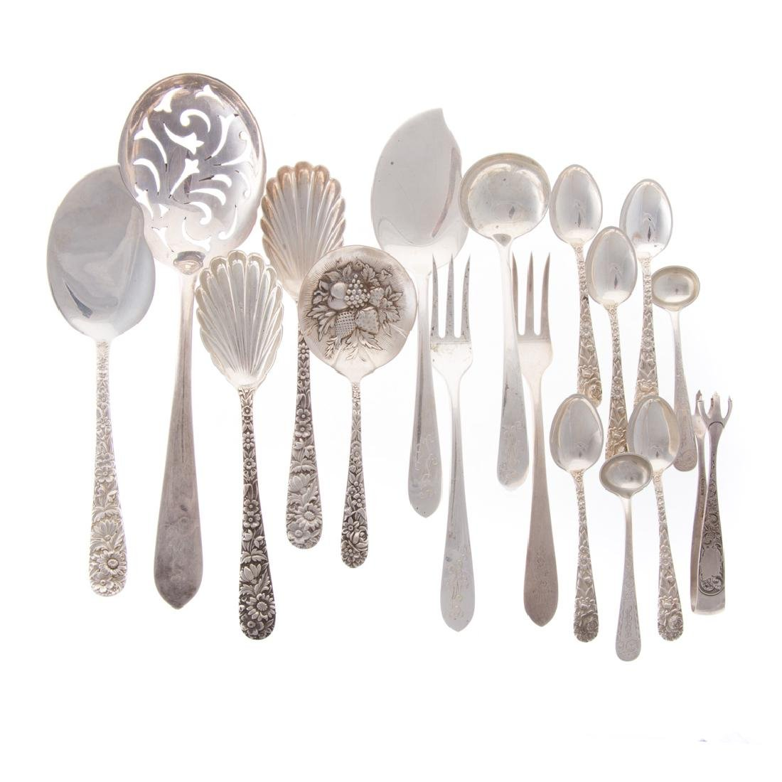Collection of Kirk sterling silver flatware