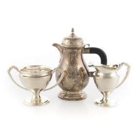 A trio of American sterling silver table articles